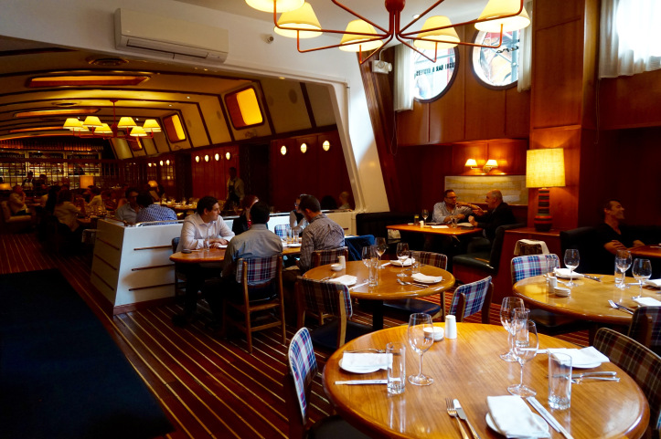 Fishbar's yacht-esque dining room