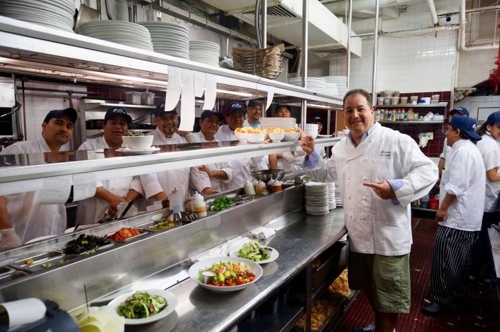 Chef Josh Capon shows off his kitchen at Lure Fishbar