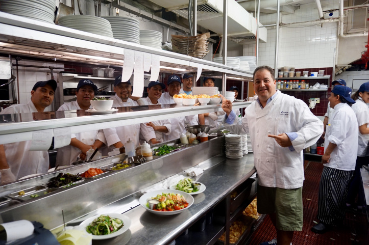 Chef Josh Capon shows off his kitchen at Lure Fishbar
