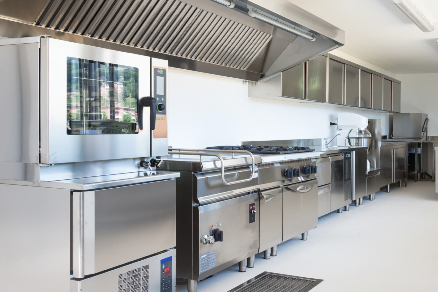 Stainless Steel spotless kitchen